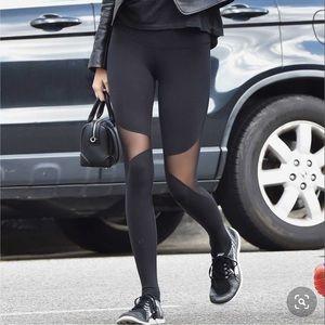 Alo Coast Mesh Black Leggings Yoga Pants sz XS